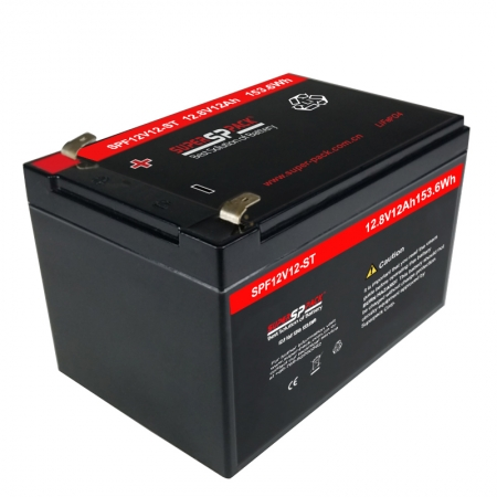 batterie rechargeable au lithium lifepo4 à cycle profond 12.8v 12ah